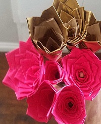 Duct Tape Roses from Paul